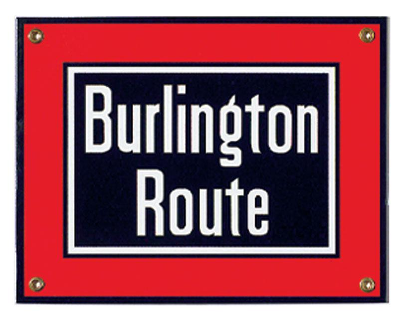 Burlington Route Porcelain Sign