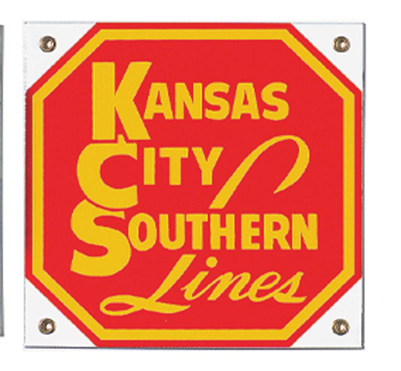 Kansas City Southern Lines Porcelain Sign