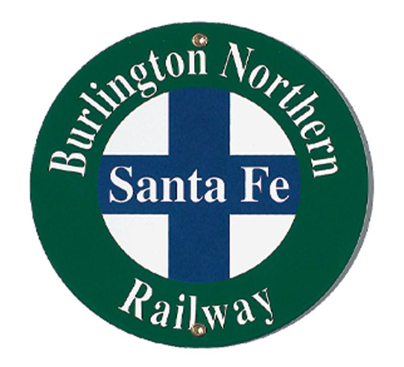 Burlington Northern Santa Fe Porcelain Sign