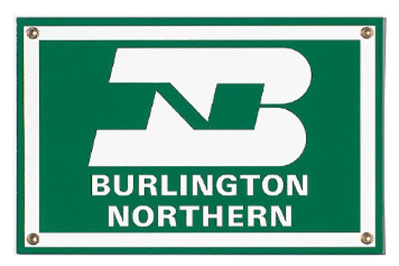 Burlington Northern Porcelain Sign