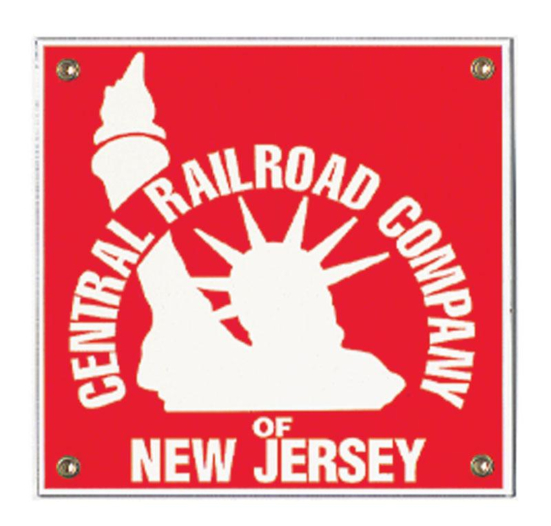 Central RR Company of New Jersey Porcelain Sign