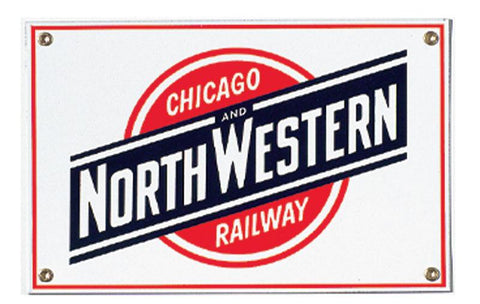 Chicago & North Western Railway Porcelain Sign