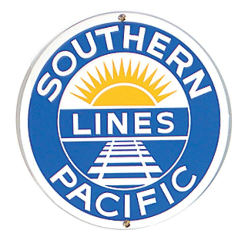 Southern Pacific Lines Porcelain Sign