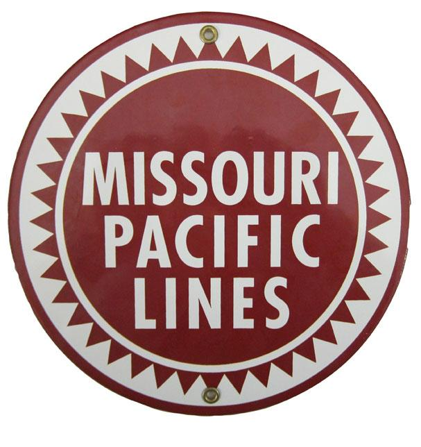 Missouri Pacific Lines Porcelain Sign