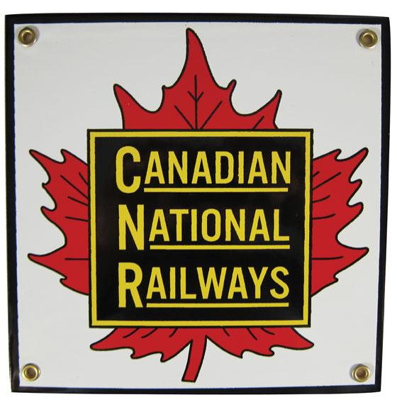 Canadian National Railways Porcelain Sign