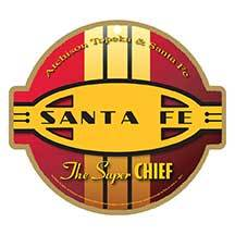 Santa Fe Super Chief Red/Gold Plaque