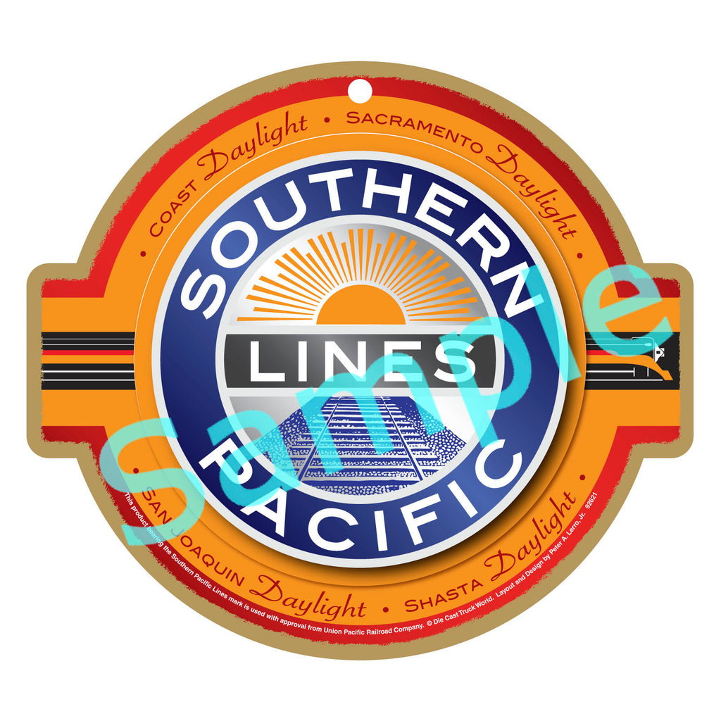 Southern Pacific Lines Logo Plaque