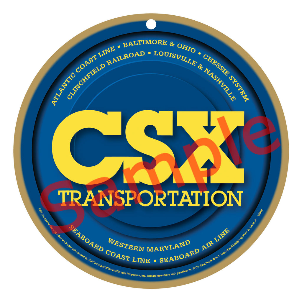 CSX Transportation Logo Plaque