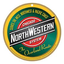 Chicago & Northwestern Railway Logo Plaque