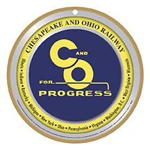 C & O for Progress Logo Plaque