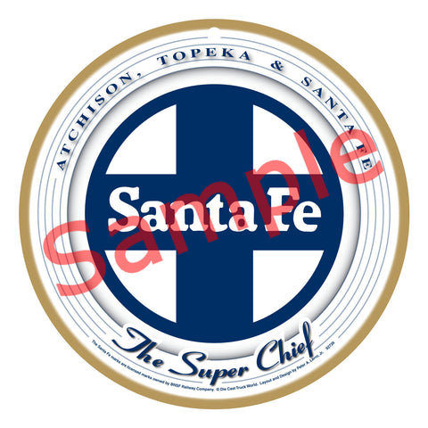 Santa Fe Super Chief White/Blue Plaque