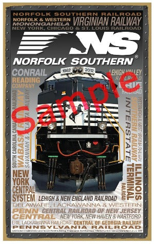 Norfolk Southern Wooden Heritage Sign