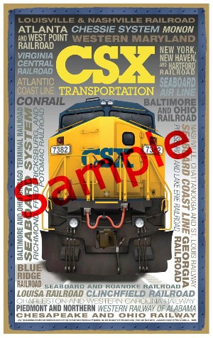 CSX Transportation Wooden Heritage Sign