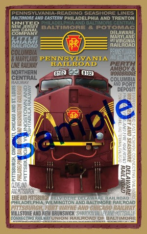 Pennsylvania Railroad Wooden Heritage Sign