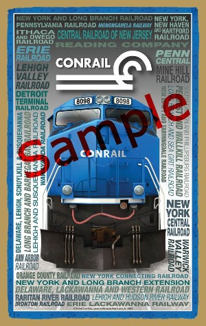 Conrail Wooden Heritage Sign
