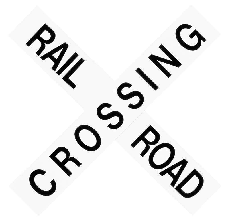 "18"" x 3"" Railroad Crossing Sign"