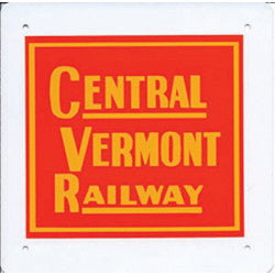 Central Vermont Railway Logo Sign