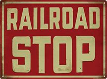Railroad Stop Sign