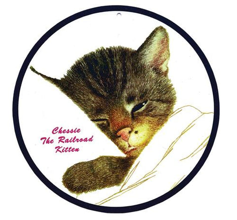Chessie Kitten Round Sign