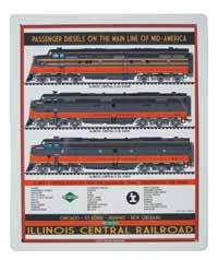 Illinois Central Railroad Passenger Diesels Sign