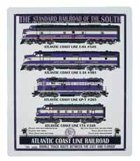 Atlantic Coast Line Railroad Locomotives Sign