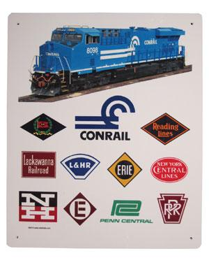 Conrail Historic Logos Sign