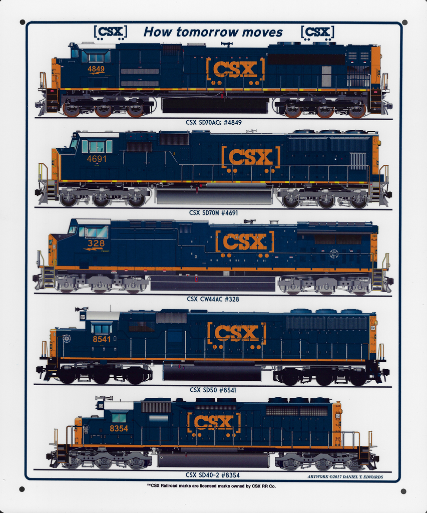 CSX Diesel Collage Sign