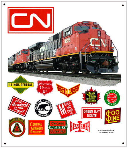 Canadian National Tin Railroad Sign