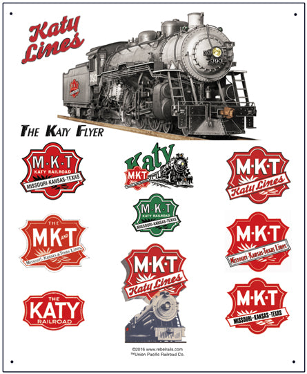 Katy Lines Tin Railroad Sign