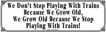 Playing with Trains Tin Sign