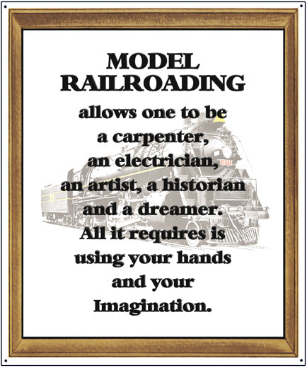 Model Railroading Tin Sign