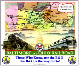 B&O Tin Railroad Sign