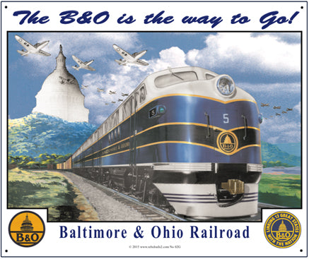 Baltimore and Ohio Tin Railroad Sign