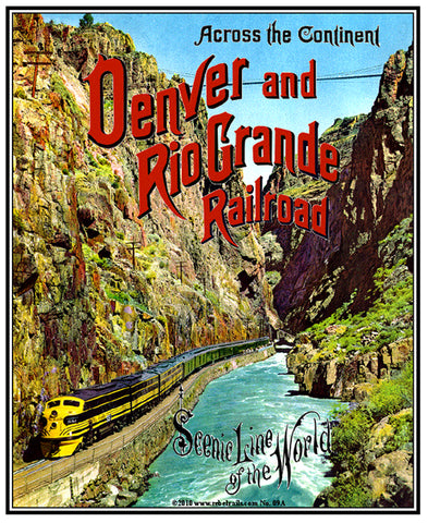 Royal Gorge Tin Railroad Sign