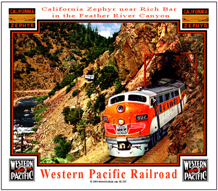 Western Pacific Tin Railroad Sign