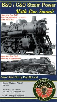 B&O/C&O Steam Power DVD