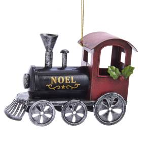 Noel Locomotive Ornament