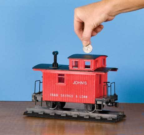 Bobber Caboose Coin Bank