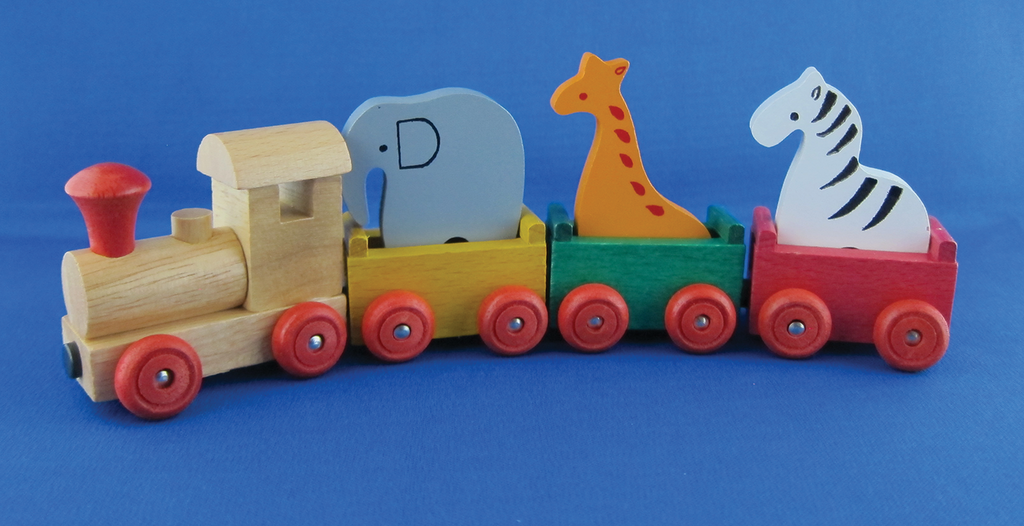 Circus Animals Wooden Train