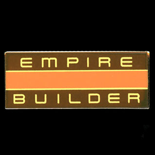 Empire Builder-Orange-Railroad Pin