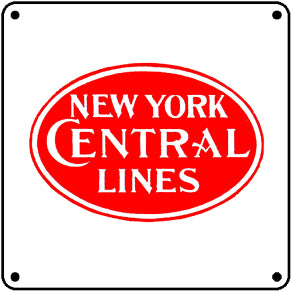 New York Central Tin Sign