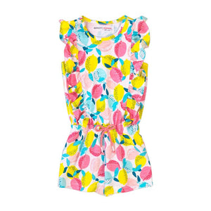 Frilly Fruit Print Playsuit