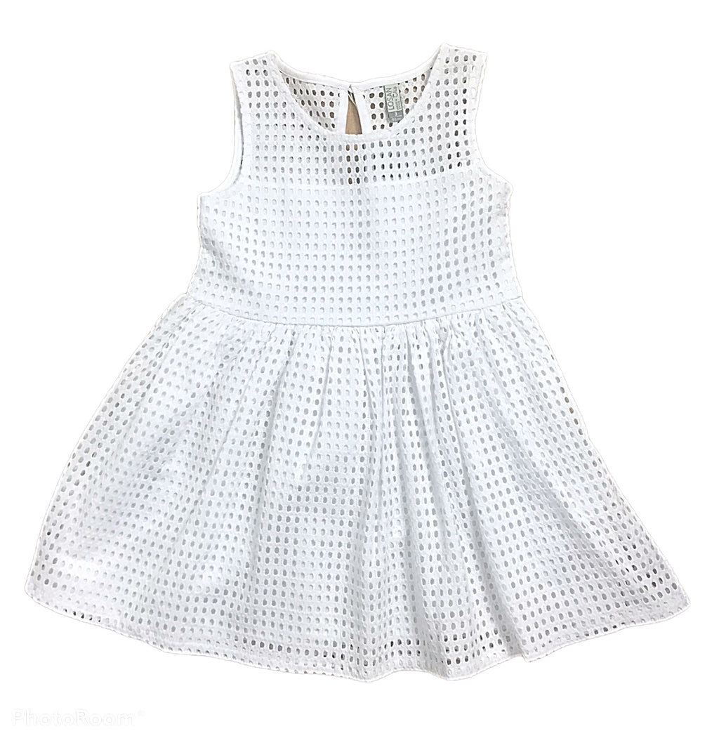 Losan white summer dress - Roo's Online Shop - children's clothes - Mary Jane shoes -
