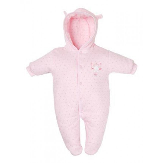 Tiny baby pink stars snowsuit - Roo's Online Shop - children's clothes - Mary Jane shoes -