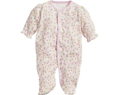 Pretty floral cotton babygrow