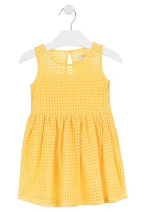 Losan yellow summer dress - Roo's Online Shop - children's clothes - Mary Jane shoes -