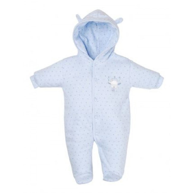 Tiny baby blue stars snowsuit - Roo's Online Shop - children's clothes - Mary Jane shoes -