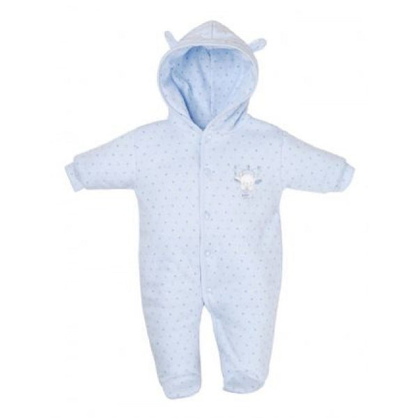 Tiny baby blue stars snowsuit