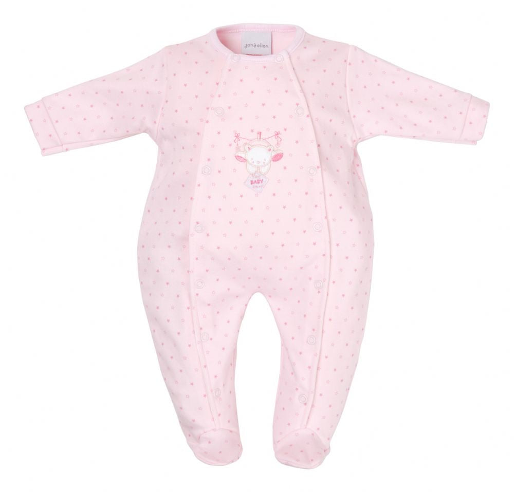 Tiny baby pink star babygrow - Roo's Online Shop - children's clothes - Mary Jane shoes -
