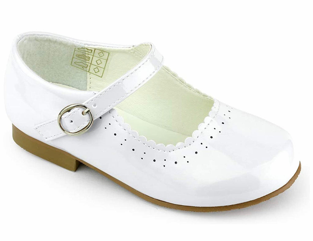NEW STYLE Junior Mary Jane Shoes in White